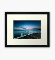 Pink twilight over Rye Pier Framed Print