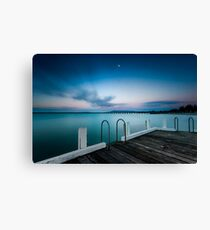 Pink twilight over Rye Pier Canvas Print