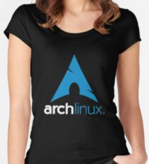 Arch Linux Merchandise Women's Fitted Scoop T-Shirt