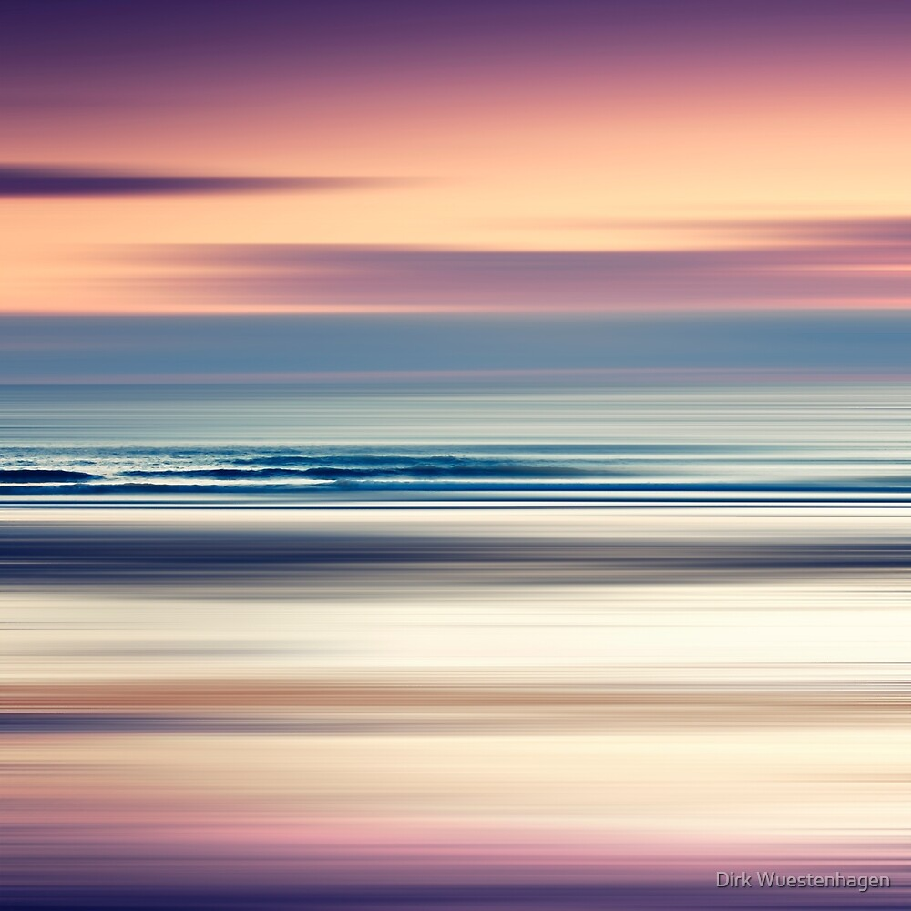 Sharing the Magic - abstract seascape at sunset by Dirk Wuestenhagen
