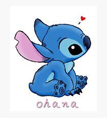 ohana means family  Photographic Print