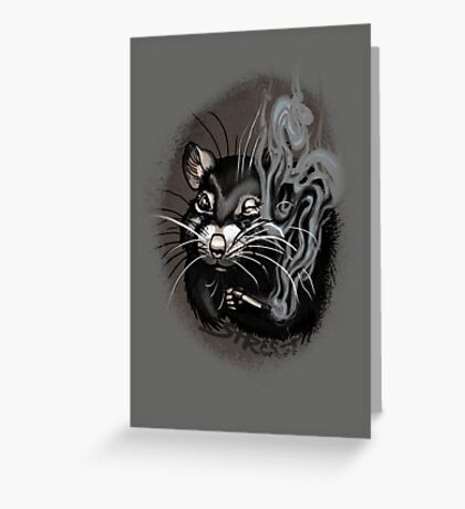 Street Rat Smoker Greeting Card