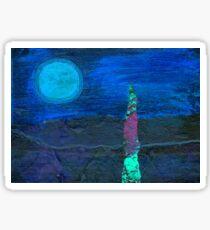 Midnight Landscape Sticker