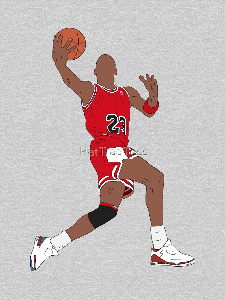 Michael Jordan Dunk by RatTrapTees