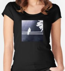 White bird white wire Women's Fitted Scoop T-Shirt