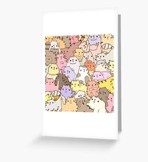 Cats puzzle Greeting Card