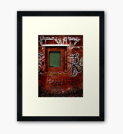 Window to Nowhere Framed Print