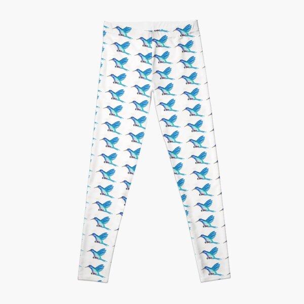 Blue Hummingbird Leggings
