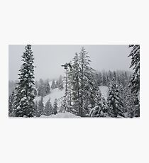 Snowy Day in the Mountains  Photographic Print