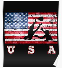 USA Wasserball Poster