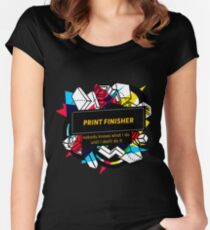 PRIVATE BANKER Women's Fitted Scoop T-Shirt