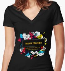 RENTAL MANAGER Women's Fitted V-Neck T-Shirt