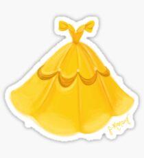 Golden Ballgown Sticker