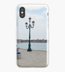 6 June 2017 People on the promenade near the canal in Venice, Italy iPhone Case/Skin