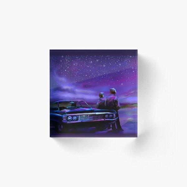 Impala Nights- Sam and Dean Acrylic Block