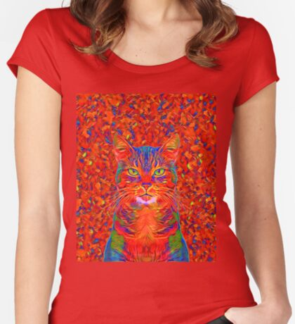 Red Cat Fitted Scoop T-Shirt