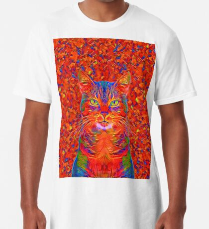 Red Cat Long T-Shirt