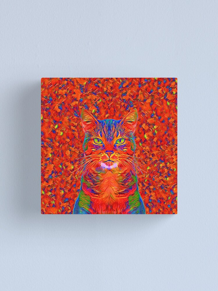Alternate view of Red Cat Canvas Print