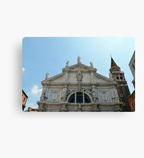 Beautiful white marble church in Italy Canvas Print