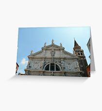 Beautiful white marble church in Italy Greeting Card