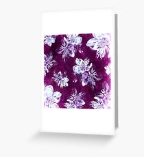 Purple Bohemian Floral Pattern Greeting Card