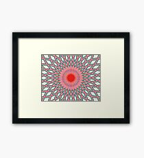 Circle in Repeat. Framed Print