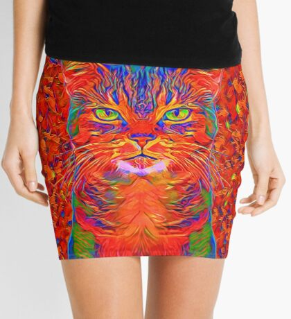 Red Cat Mini Skirt