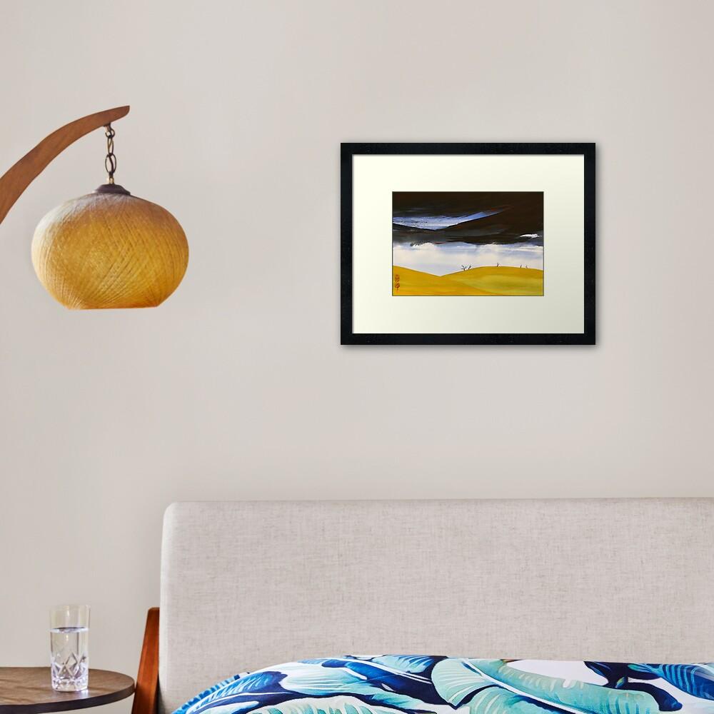 Storm On The Midlands Framed Art Print