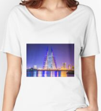 Bahrain World Trade Center, Manama Skyline  Women's Relaxed Fit T-Shirt