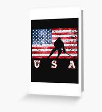 USA Ice Hockey Greeting Card