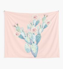 Pretty Cactus Pink and Mint Green Desert Cacti Home Decor Wall Tapestry