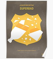No315- Superbad minimal movie poster Poster