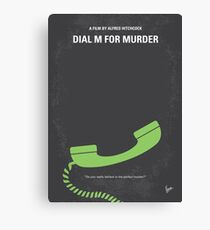 No328- Dial M for Murder minimal movie poster Canvas Print