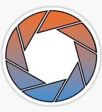 Portal- Aperture Science Gradient Sticker