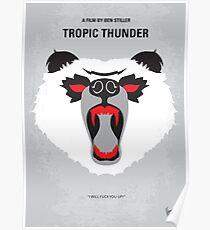 No344- TROPIC THUNDER minimal movie poster Poster
