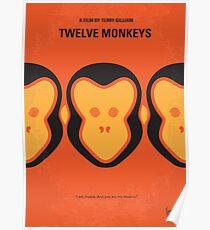 No355- 12 MONKEYS minimal movie poster Poster