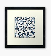Blue Colorado Columbine Pattern Framed Print