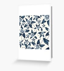 Blue Colorado Columbine Pattern Greeting Card