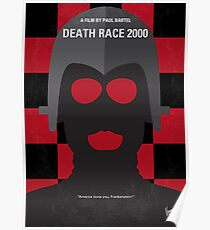 No367- Death Race 2000 minimal movie poster Poster