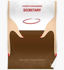 No371- Secretary minimal movie poster Poster
