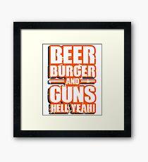 Beer Burger Framed Print