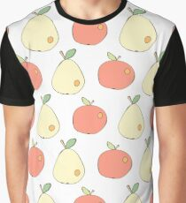 Apples and pears drawn in Japanese cartoon style  Graphic T-Shirt