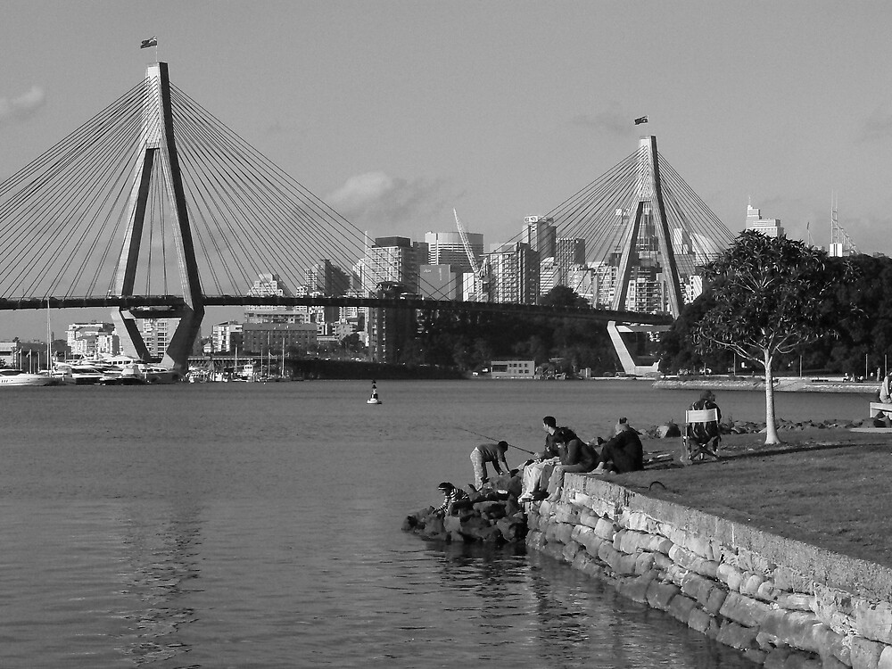Anzac Bridge by adelethomas