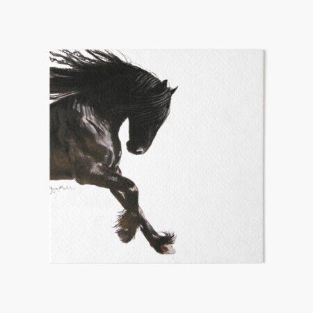 Horse PRiNT BLaCK FRieSiaN ' COOL DANCER ' by Shirley MacArthur Art Board Print