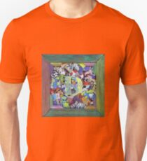 D2 Personalized Sticker Collage Rainbow Fun T-Shirt