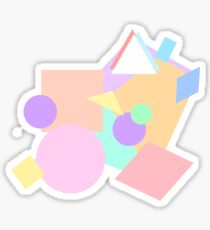 Shapes of pastel colour Sticker
