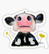 Nossey Cow ' DAFFODIL ' by Shirley MacArthur Sticker