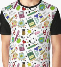 Back To School Supplies Doodle Art Graphic T-Shirt