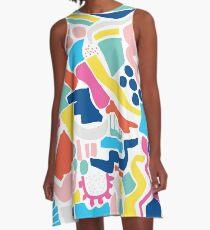 Colour Scatter A-Line Dress