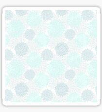 Modern teal pastel blue white elegant floral pattern Sticker